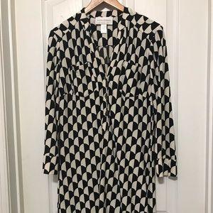 Donna Morgan geometric wash and go dress Size 6
